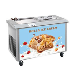 ice cream  rolling machine with 6 containers